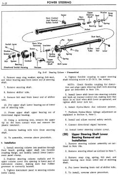 1959 Cadillac Steering Column Exploded View Reference ONLY