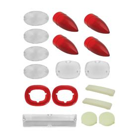 1959 Cadillac (See Details) Exterior and Interior Lens Set (17 Pieces) REPRODUCTION Free Shipping In The USA