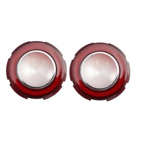 1960 Cadillac Round Backup Lens In Bumper 1 Pair REPRODUCTION Free Shipping In The USA