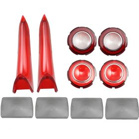 1960 Cadillac Exterior Lens Set (10 Pieces) REPRODUCTION Free Shipping In The USA