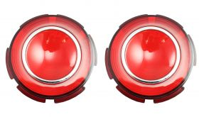 1960 Cadillac Round Tail Light Lens in Bumper 1 Pair REPRODUCTION Free Shipping In The USA