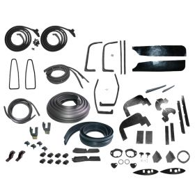 1960 Cadillac Coupe Deville Deluxe Rubber Weatherstrip Kit (61 Pieces) REPRODUCTION Free Shipping In The USA