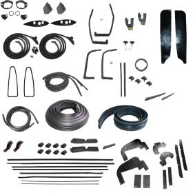 1960 Cadillac Coupe Deville Deluxe Rubber Weatherstrip Kit (69 Pieces) REPRODUCTION Free Shipping In The USA