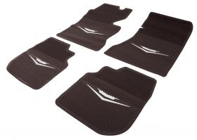 1961 1962 1963 1964 Cadillac Dark Brown Rubber Floor Mats (4 Pieces) REPRODUCTION Free Shipping In The USA