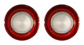 1961 Cadillac Round Backup Lens In Bumper 1 Pair REPRODUCTION Free Shipping In The USA