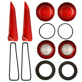 1961 Cadillac Rear Lens And Gasket Set (12 Pieces) REPRODUCTION Free Shipping In The USA