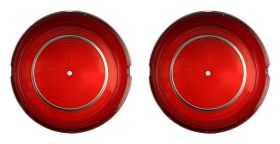 1961 Cadillac Round Tail Light Lens in Bumper 1 Pair REPRODUCTION Free Shipping In The USA