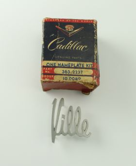 1961 Cadillac deVille Front Fender Script (Ville Only) NOS Free Shipping In The USA