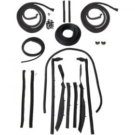 1961 1962 Cadillac Convertible Advanced Rubber Weatherstrip Kit (17 Pieces) REPRODUCTION Free Shipping In The USA