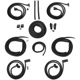 1963 1964 Cadillac Series 62 and Deville 4-Door 4-Window Hardtop Advanced Rubber Weatherstrip Kit (14 Pieces) REPRODUCTION Free Shipping In The USA
