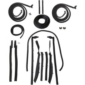 1963 1964 Cadillac 2-Door Convertible Advanced Rubber Weatherstrip Kit (17 Pieces) REPRODUCTION Free Shipping In The USA