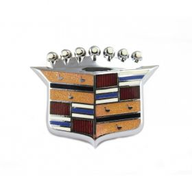 1967 1968 Cadillac (EXCEPT Eldorado) Hood Crest Emblem REPRODUCTION Free Shipping In The USA