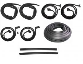 1963 1964 Cadillac Series 62 and Deville 4-Door 4-Window Hardtop Basic Rubber Weatherstrip Kit (9 Pieces) REPRODUCTION Free Shipping In The USA
