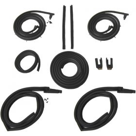 1963 1964 Cadillac Series 62 2-Door Hardtop Models Advanced Rubber Weatherstrip Kit (10 Pieces) REPRODUCTION Free Shipping In The USA