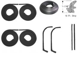 1959 1960 1961 1962 1963 1964 Cadillac Series 75 Limousine Basic Rubber Weatherstrip Kit (9 Pieces) REPRODUCTION Free Shipping In The USA
