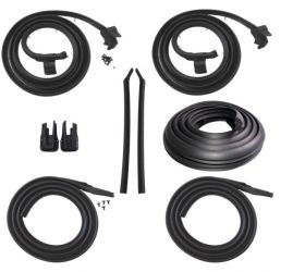 1965 1966 Cadillac Calais and Deville 2-Door Hardtop Basic Rubber Weatherstrip Kit (9 Pieces) REPRODUCTION Free Shipping In The USA