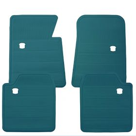 1965 1966 1967 1968 1969 1970 Cadillac Dark Teal Rubber Floor Mats (4 Pieces) REPRODUCTION Free Shipping In The USA
