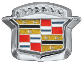 1967 1968 Cadillac Trunk Lock Cover Emblem Crest With Bezel REPRODUCTION Free Shipping In The USA