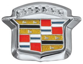 1964 1965 1966 Cadillac Trunk Lock Cover Emblem Crest With Bezel REPRODUCTION Free Shipping In The USA