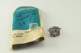 1968 Cadillac Cornering Lens Crest Emblem NOS Free Shipping In The USA