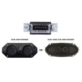 1974 Cadillac Classic Style Radio With Digital Display / Bluetooth And Dash Speaker Kit NEW Free Shipping In The USA