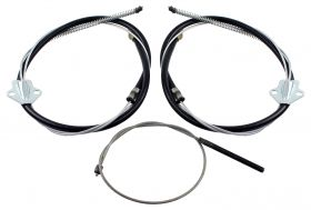 1957 Cadillac Series 62, DeVille, and Eldorado Emergency Brake Cable Set 3 Pieces REPRODUCTION Free Shipping In The USA
