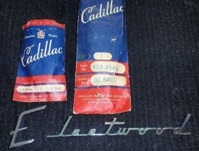 1942 1946 1947 1948 1949 1950 Cadillac Fleetwood Trunk Script NOS Free Shipping In The USA