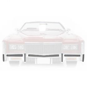1975 1976 Cadillac Eldorado ABS Plastic Front Impact Bumper Strips Set 7 Pieces REPRODUCTION Free Shipping In The USA