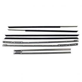 1963 1964 Cadillac 4-Door 4-Window Models Window Sweeps Set (8 Pieces) REPRODUCTION Free Shipping In The USA