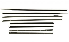 1961 Cadillac 2-Door Hardtop Window Sweeps Set (8 Pieces) REPRODUCTION Free Shipping In The USA