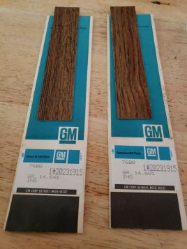 1979 1980 1980 1982 1983 1984 1985 Cadillac Eldorado Wood Door Pull Covers / Incerts 1 Pair New Old Stock Free Shipping In The USA
