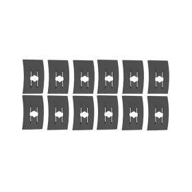 Cadillac Flat Nut Clip Set (1/16 Inch Stud Size) (12 Pieces) REPRODUCTION