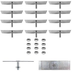Cadillac Molding Fasteners With Break-Off Tee (Plate Length 2.5 Inches Plate Width 0.75 Inch) and Nuts Set (24 Pieces) REPRODUCTION