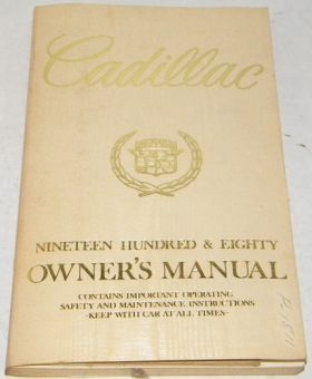 1980 Cadillac Owner's Manual - Original USED Free Shipping In USA