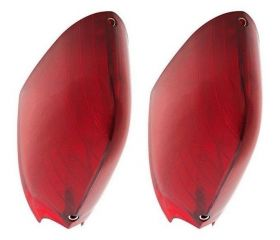 1954 1955 1956 Cadillac Tail Light Lenses 1 Pair REPRODUCTION Free Shipping In The USA