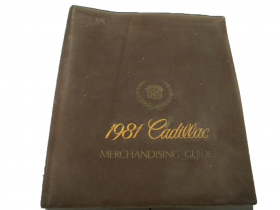 1981 Cadillac Merchandising Guide USED Free Shipping In The USA