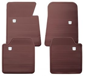 1965 1966 1967 1968 1969 1970 Cadillac Maroon Rubber Floor Mats (4 Pieces) REPRODUCTION Free Shipping In The USA