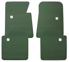 1965 1966 1967 1968 1970 Cadillac Green Rubber Floor Mats (4 Pieces) REPRODUCTION Free Shipping In The USA