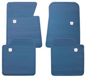 1965 1966 1967 1968 1970 Cadillac Blue Rubber Floor Mats (4 Pieces) REPRODUCTION Free Shipping In The USA
