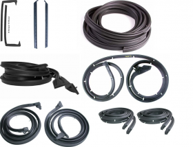 1959 1960 Cadillac 4-Door 4-Window Hardtop Basic Rubber Weatherstrip Kit (11 Pieces) REPRODUCTION Free Shipping In The USA