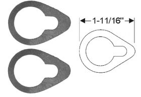 1939 1940 1941 1942 1946 1947 1948 1949 Cadillac (See Details) Door Lock Cylinder Rubber Pads 1 Pair REPRODUCTION