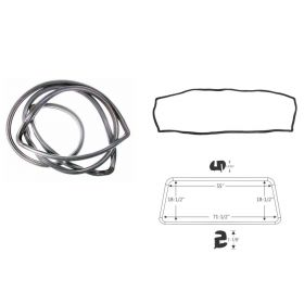 1961 1962 Cadillac (See Details) Windshield Rubber Weatherstrip REPRODUCTION Free Shipping In The USA
