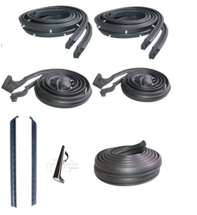 1961 Cadillac 2-Door Hardtop Basic rubber Weatherstrip Kit (7 Pieces) REPRODUCTION Free Shipping In The USA
