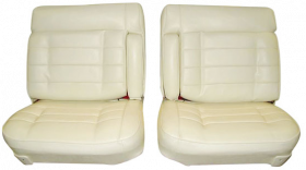 1975 1976 Cadillac Eldorado Front Seat Covers (Vinyl) 50/50 Split Seats With Dual Arm Rests REPRODUCTION Free Shipping In The USA
