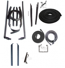 1961 1962 Cadillac Convertible Basic Rubber Weatherstrip Kit (14 Pieces) REPRODUCTION Free Shipping In The USA