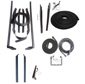 1962 Cadillac Convertible Basic Rubber Weatherstrip Kit (14 Pieces) REPRODUCTION Free Shipping In The USA