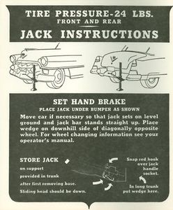 1953 Cadillac Jacking Instructions Decal REPRODUCTION