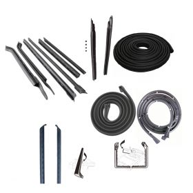 1967 1968 Cadillac Deville Convertible Basic Rubber Weatherstrip Kit (14 Pieces) REPRODUCTION Free Shipping In The USA