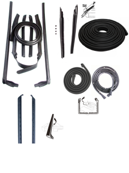 1969 Cadillac Deville Convertible Basic Rubber Weatherstrip Kit (14 Pieces) REPRODUCTION Free Shipping In The USA