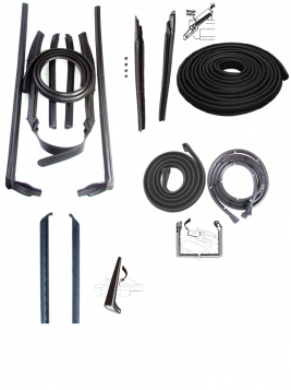 1970 Cadillac Deville Convertible Basic Rubber Weatherstrip Kit (13 Pieces) REPRODUCTION Free Shipping In The USA